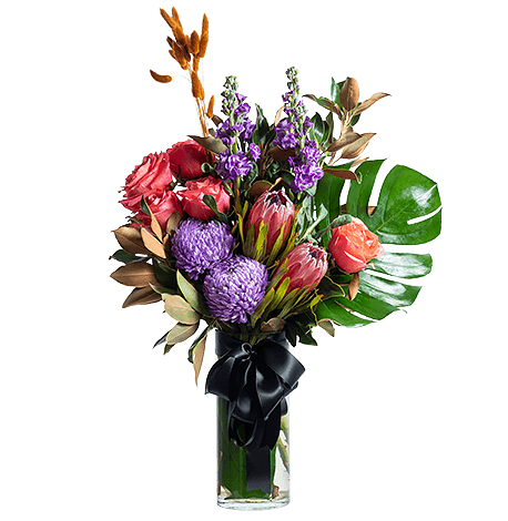 Vibrant Collection flower arrangement in Signature size